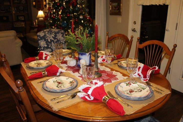 Farmhouse Christmas Tablescape and a Christmas Message