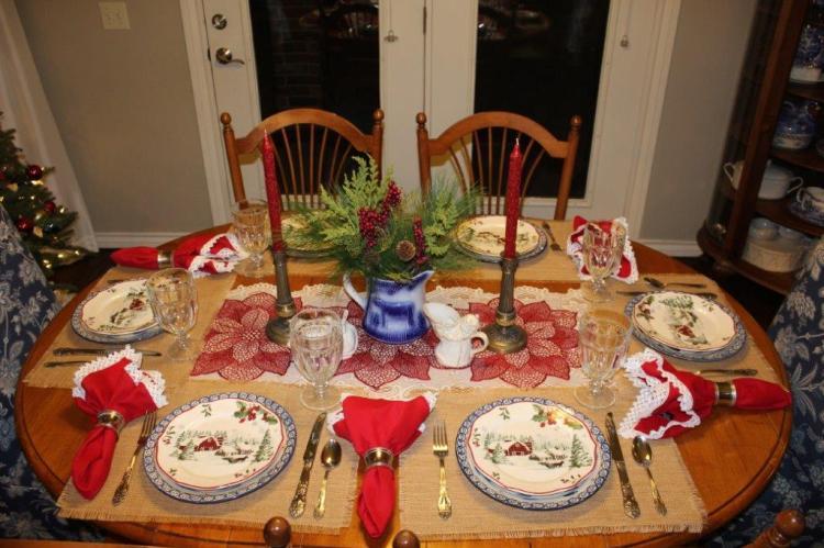 Belle Bleu Interiors Farmhouse Christmas Tablescape 3