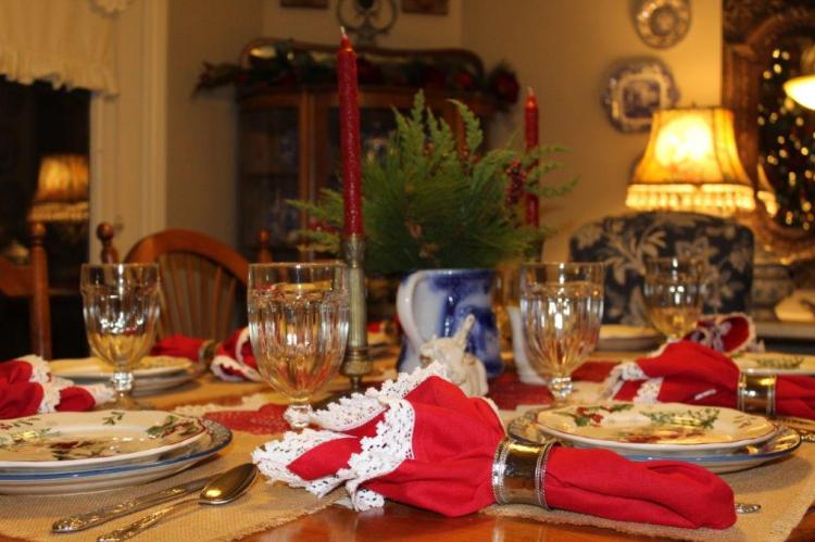 Belle Bleu Interiors Farmhouse Christmas Tablescape 7