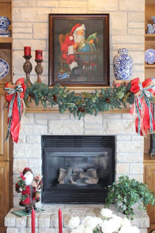 Belle Bleu Interiors French Country Christmas Mantel 5