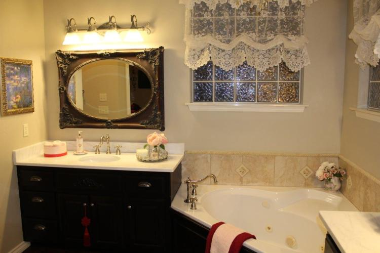 Belle Bleu Interiors French Country Master Bathroom 12