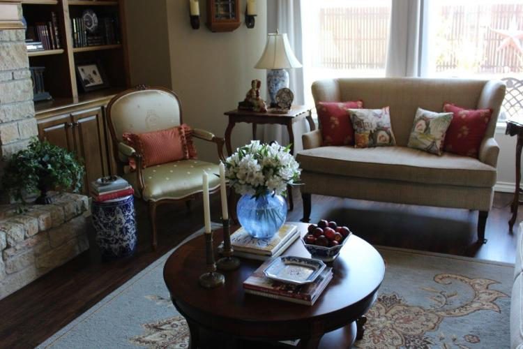 French Country Spring Living Room Tour Belle Bleu Interiors