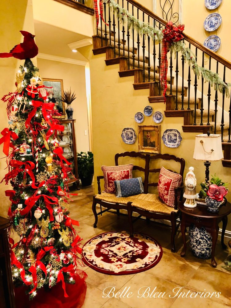 A Merry and Bright Christmas Foyer