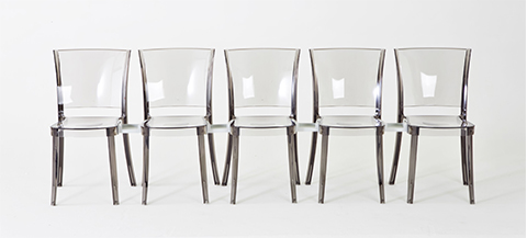 chaise transparente polycarbonate lucienne prune fr