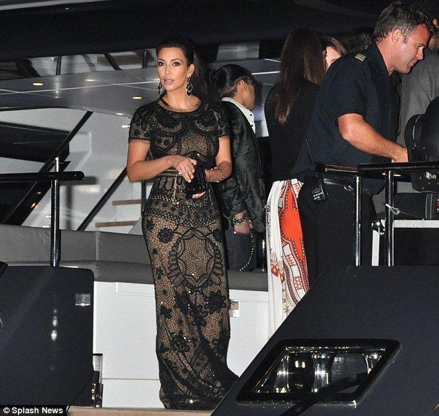 Kim Kardashian And Paris Hilton At P Diddys Yacht Party