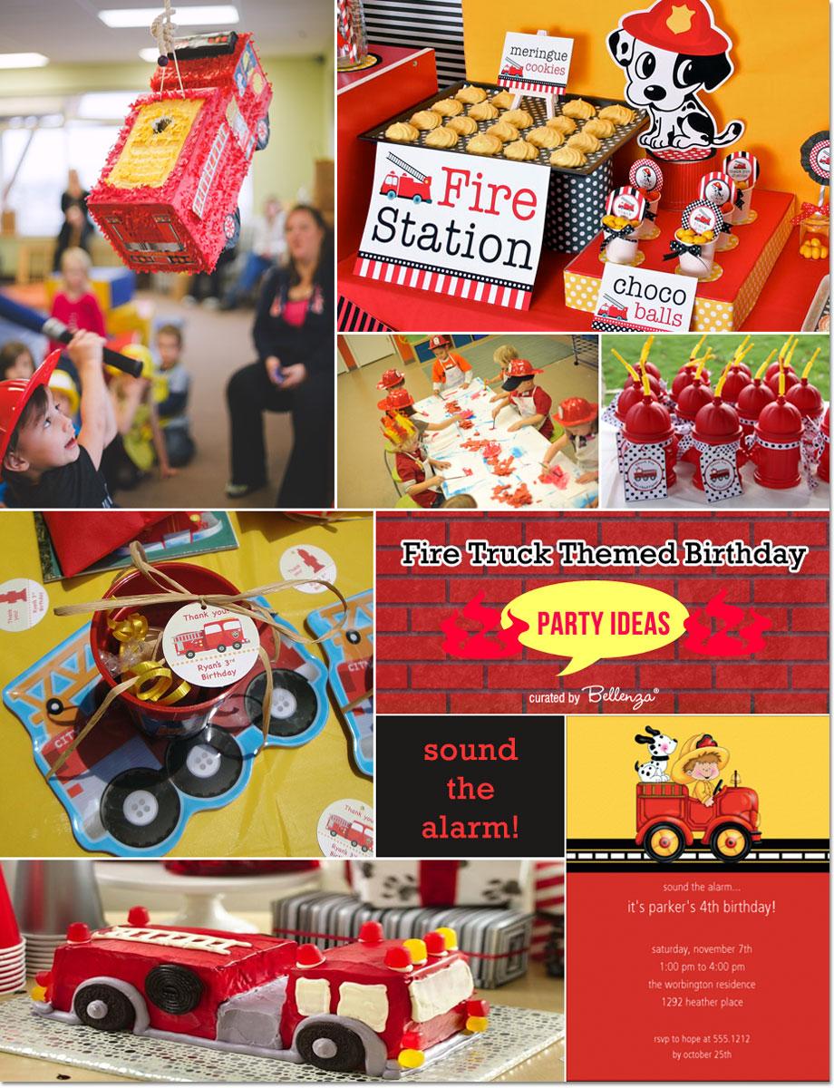 Fire Truck Themed Birthday Ideas