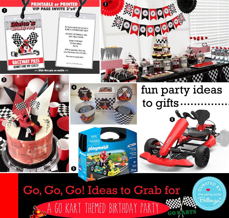 Go Kart Themed Birthday Party