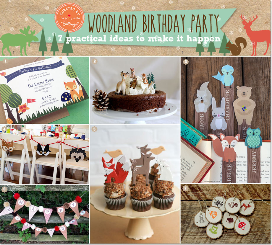 Woodland Winter Birthday Party Can Do Decorating Ideas