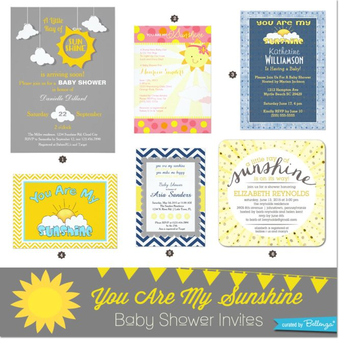 Diy You Are My Sunshine Baby Shower
