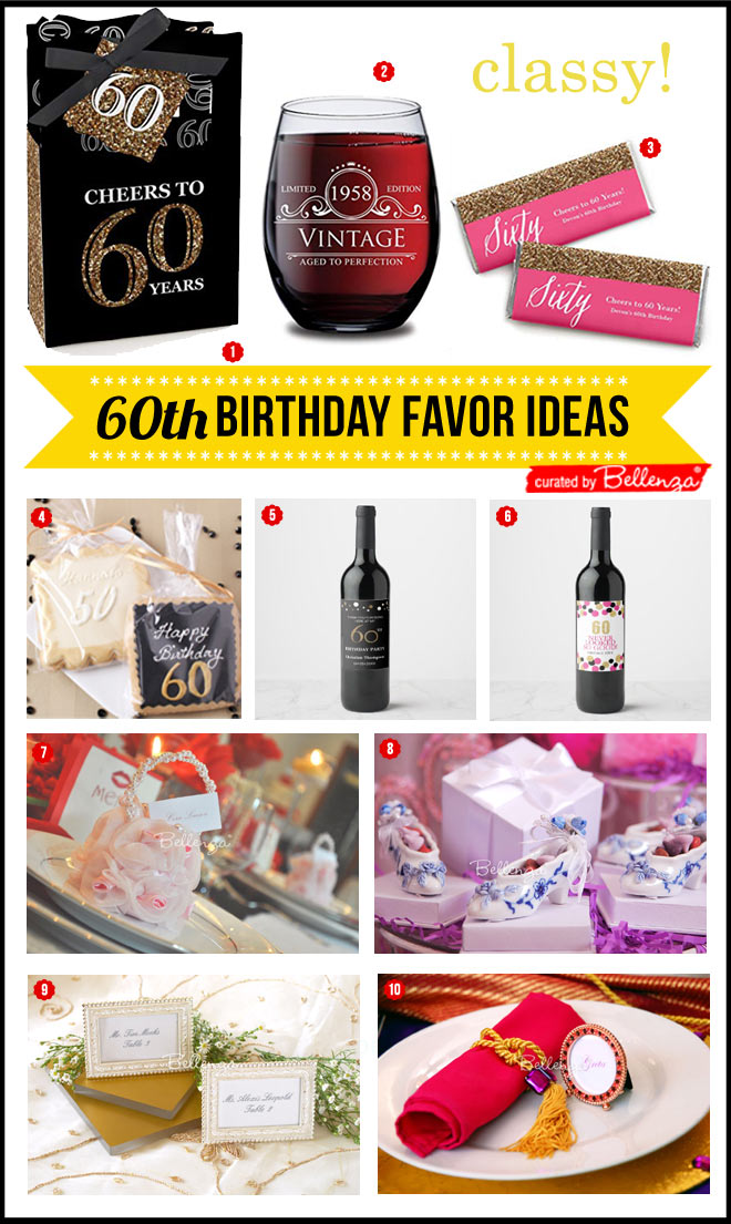 60th Birthday Favor Ideas For Mom With Sophistication The Shop At Bellenza
