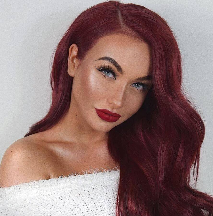 Red Lipstick Fair Skin Light Brown Hair