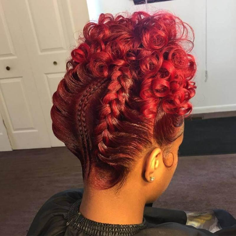 Red Braided Updo