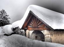 Chalets in de sneeuw in les Carroz