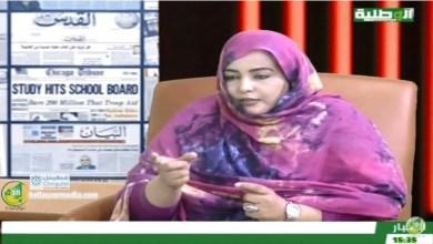 Photo of صاحبة الجلال مع الصحفية نفيسة بنت الطالب – قناة الوطنية