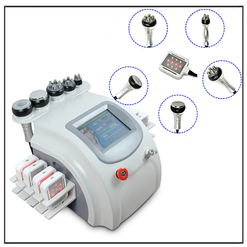 6 in 1 Diode Lipolaser Vacuum Cavitation RF Slimming Machine