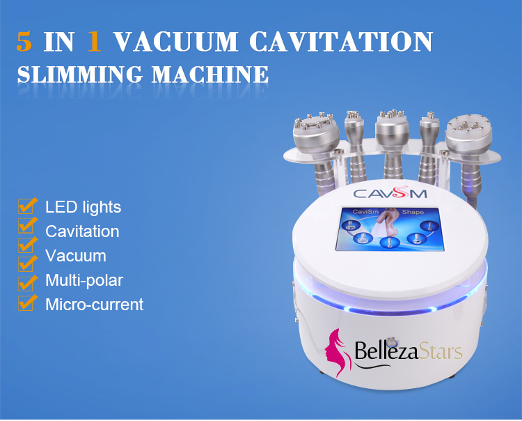 5 in1 RF Cavitation Slimming Ultrasound Cellulite Removal Machine