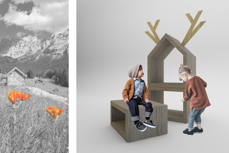 +1.000 mt: elementi d'arredo di design pensati per i bambini, generatori di benessere, contenitori di oggetti e di racconti