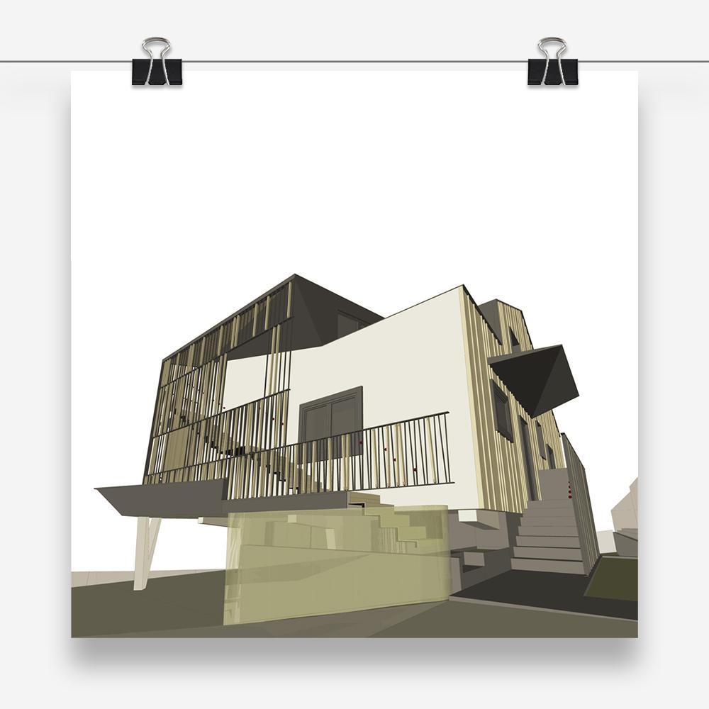 casa ag: progetto di architettura per il sopralzo e il restyling di un'abitazione unifamiliare