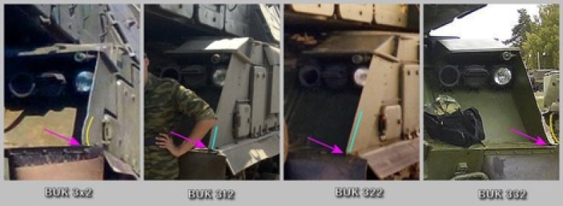 Comparisons of left panel dents on Buks 312, 322, and 332, along with 3x2