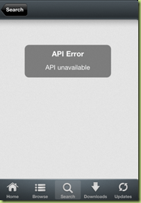 Installous API Error API unavailable