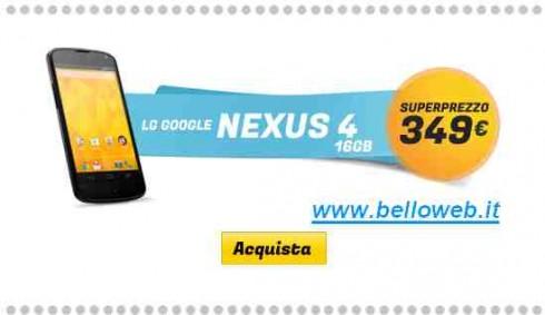 Offerta Nexus 4 - Gli Stockisti