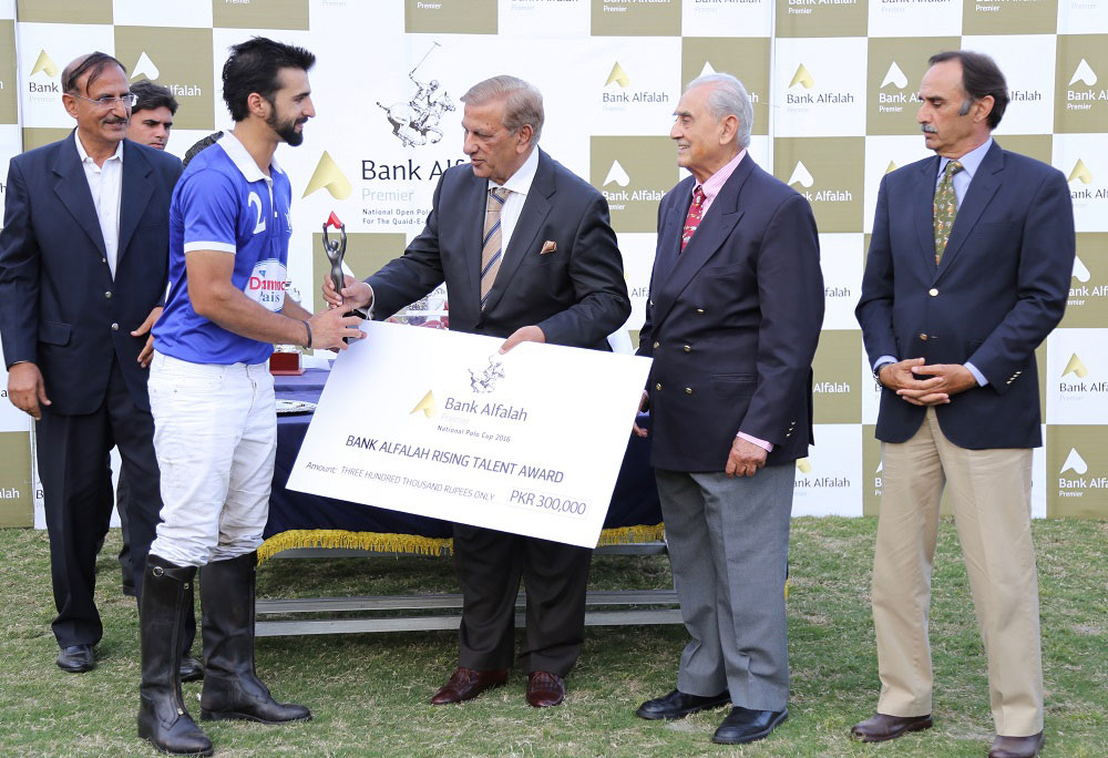 Bank Alfalah Rising Talent Winner Announced at the National Open Polo Championship 2016