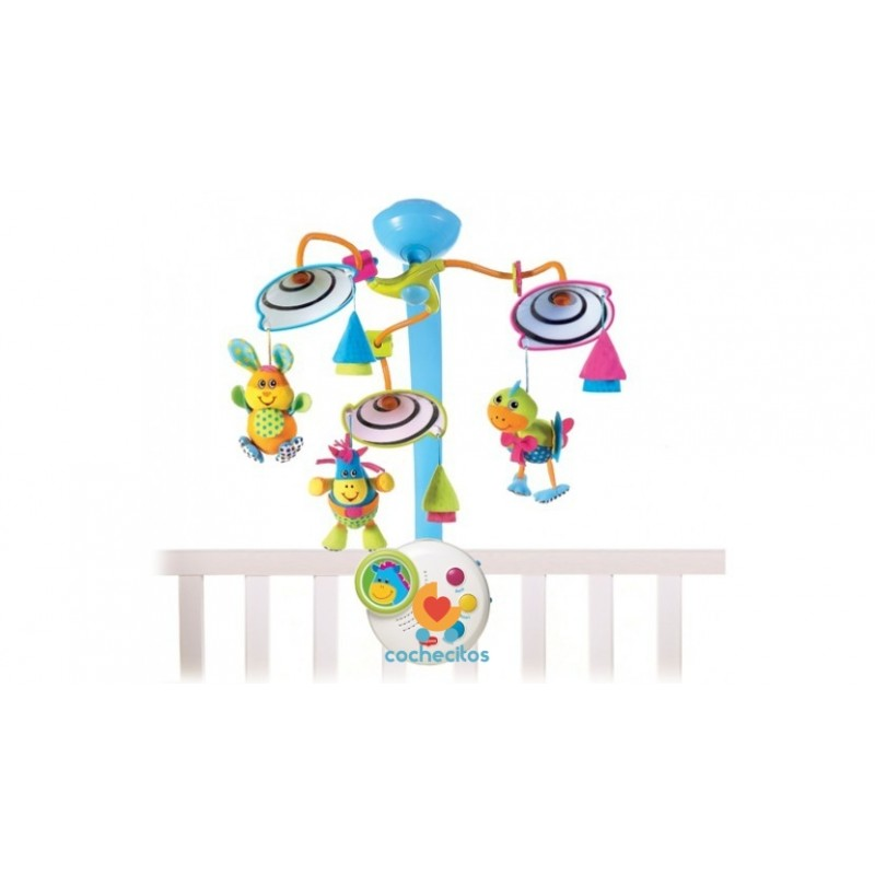 Movil Cunero Musical Luz Tiny Love Clasico Animalitos Fisher