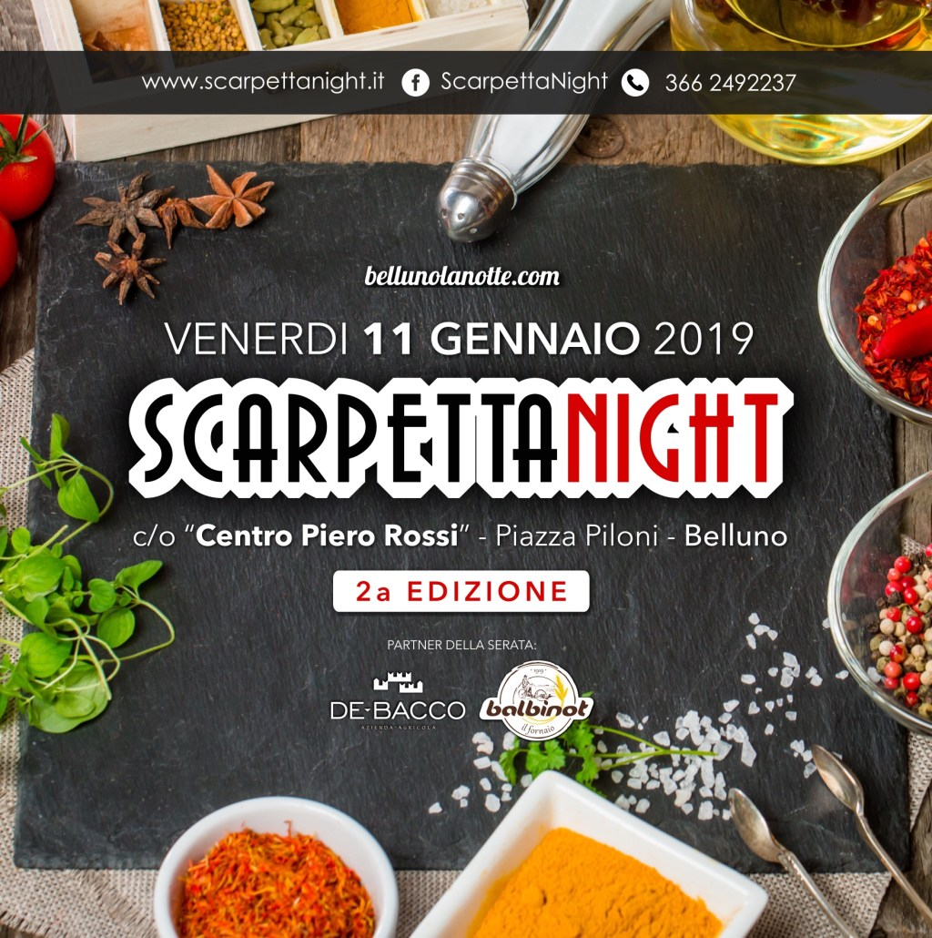 Scarpetta Night – Seconda edizione a Belluno