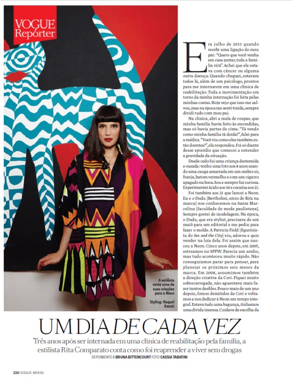 Photo Cassia Tabatino Styling Rita Comparato para Vogue