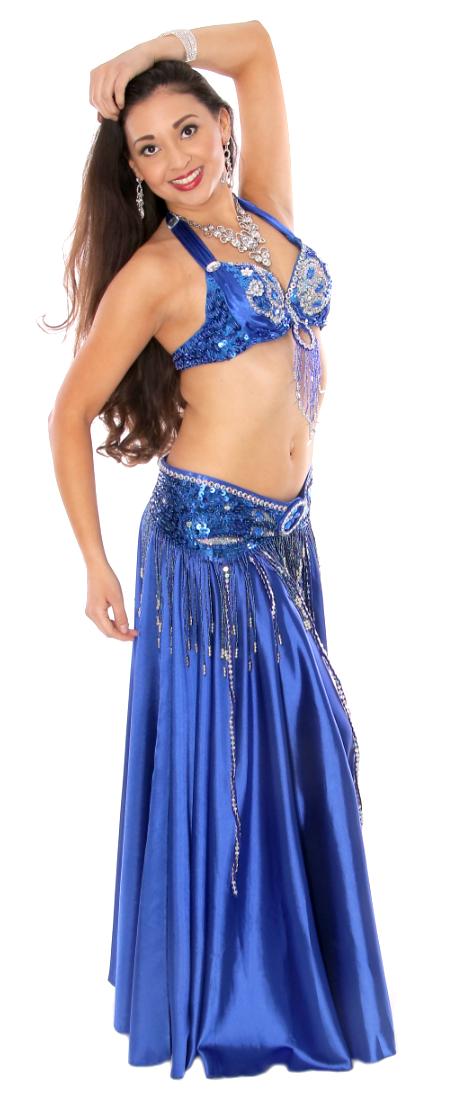 Royal Blue Belly Dance Costume on Bellydance.com
