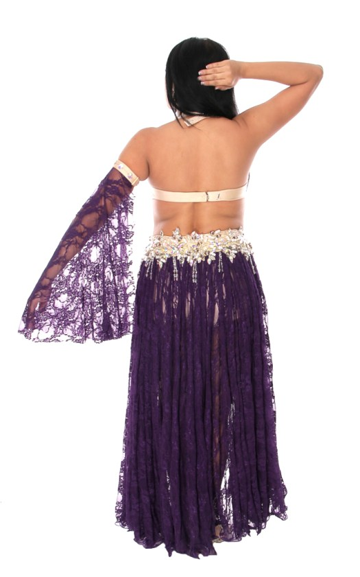 Professional Belly Dance Costume from Egypt in Deep Purple ...