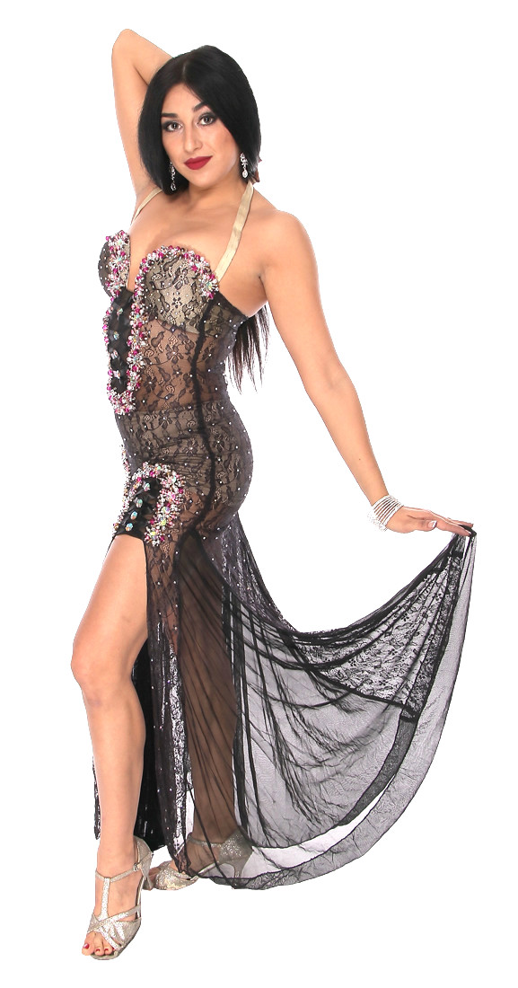 Professional Belly Dance Lace Beledi Dress from Egypt in ...