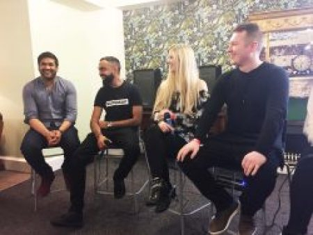 A panel of big YouTube stars at the manchester Creators day