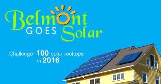 Residential rooftop with solar panels installed on a sunny day.