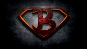 "The letter B in the style of ""Man of Steel"""