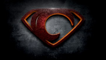 "The letter C in the style of ""Man of Steel"""