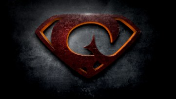 "The letter G in the style of ""Man of Steel"""