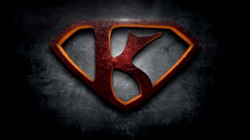 "The letter K in the style of ""Man of Steel"""