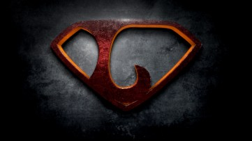 "The letter L in the style of ""Man of Steel"""