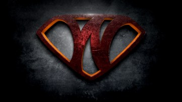 "The letter W in the style of ""Man of Steel"""