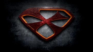 "The letter X in the style of ""Man of Steel"""