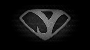 "The letter Y in the style of ""Man of Steel"" - black and white texture version"