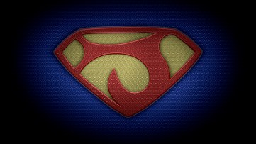 "The letter J in the style of ""Man of Steel"" - color texture version"
