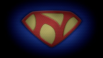 "The letter N in the style of ""Man of Steel"" - color texture version"