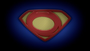 "The letter O in the style of ""Man of Steel"" - color texture version"