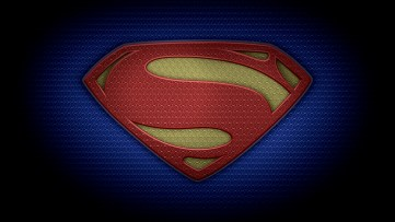 "The letter S in the style of ""Man of Steel"" - color texture version"