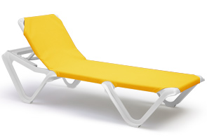 nautical sling chaise lounge pool