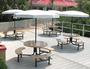 Fiberglass Valance Umbrellas   Table Umbrellas   Belson Outdoors     Model STM 4   Octagon Fiberglass Umbrella   Valance  White