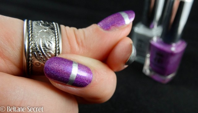 Nail Art A England purple silver-8