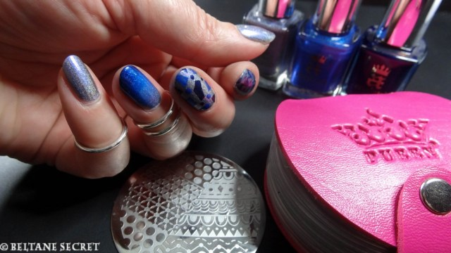 A England Nail Art Bleu